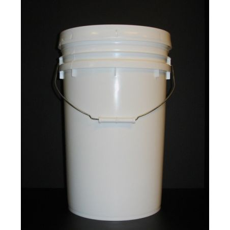 Pail - white, 1 gallon with handle